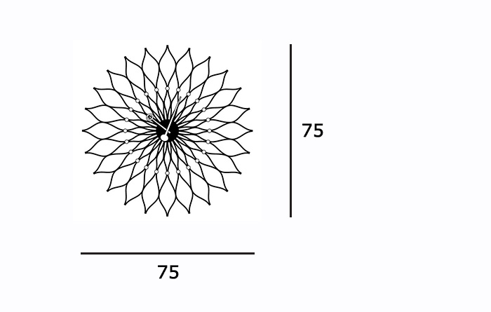 sunflowerclock_size