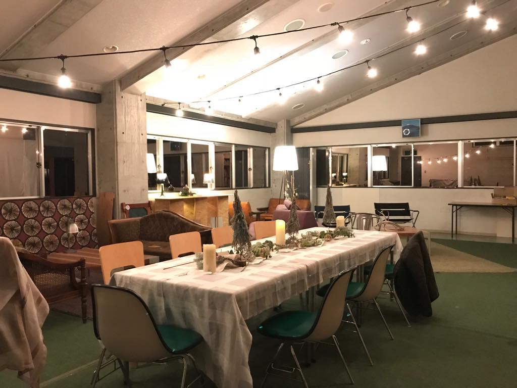 高崎の美容室「hearty」20周年記念パーティーのラウンジルーム装飾